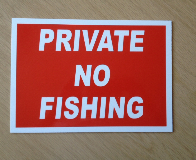 BL-27 Quality 3mm plastic sign. For Sale Sign