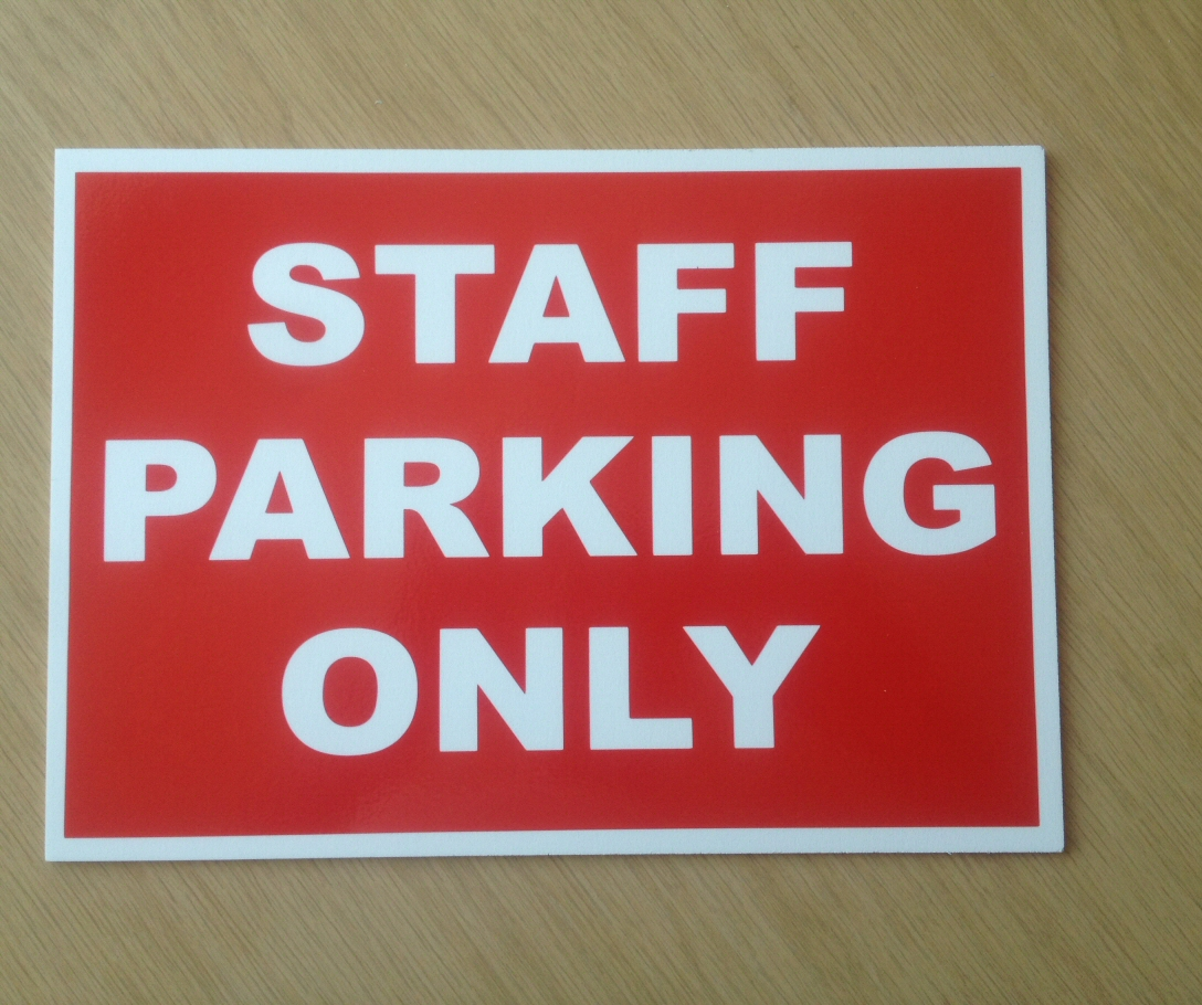 Personalised custom car parking sign your company details here parking only 3mm Aluminium sign 300mm x 200mm